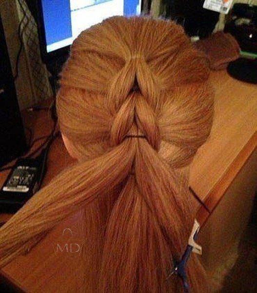 Плетение кос на резиночках