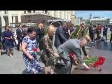 На возложении венков в память погибших в Великую Отечественную. Скорбим по тем, чьи жизни унесла страшная война.