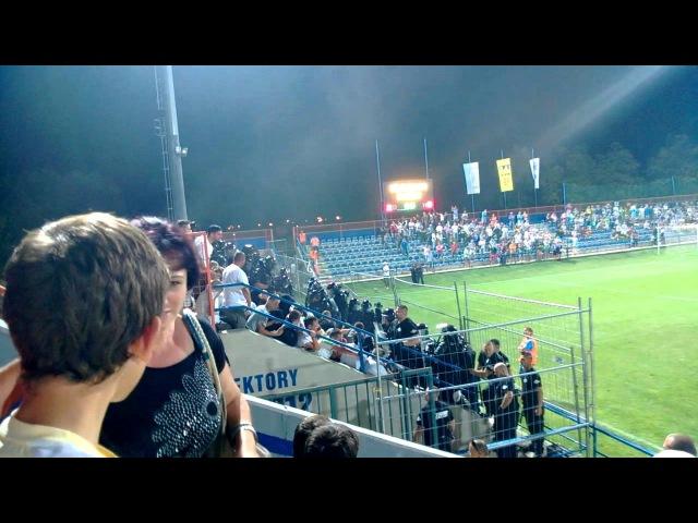 Futbal: MFK Zemplín Michalovce-Tatran Prešov 2:0 (2:0) - zásah polície 18.8.2013
