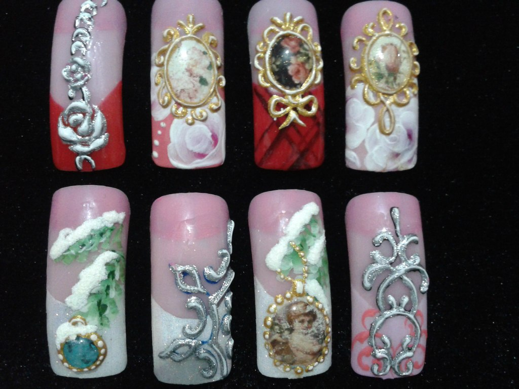 Декупаж дизайн ногтей