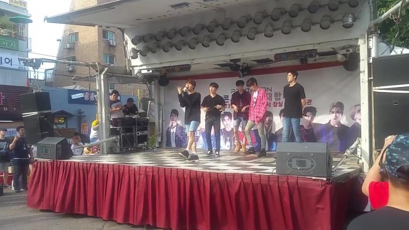 [160709] Pentagon - Sorry (JB Cover) @ Hongdae Guerilla Event