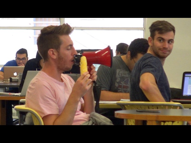 EATING LOUDLY WITH A MEGAPHONE!