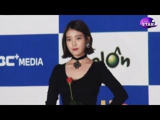 [TheSTAR] 아이유(IU) 팬에게 받은 장미 소중하게 '맘도 고운 지은씨'