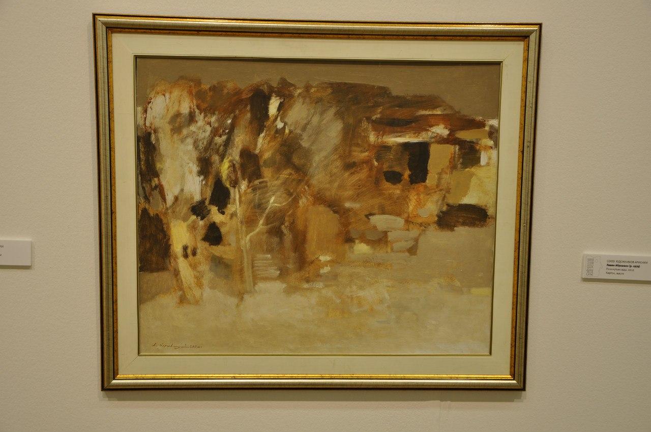 Союз художников Армении  Левон Абраамян (р. 1979)  Покинутые сады. 2012  Картон, масло