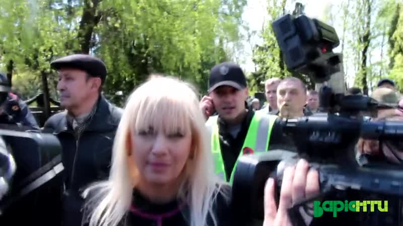 Львівські праваки (правосеки) плюють в Інну Іваночко