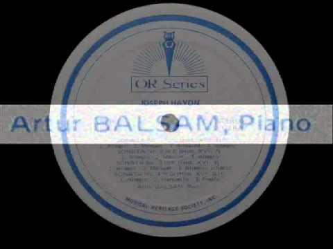 Haydn Artur Balsam, 1968 Piano Sonata No. 3 in F, Hob. XVI9