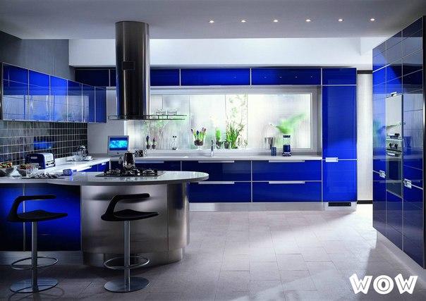 Интересная идея оформления кухни, креативные идеи для кухни, кухня в стиле хайтек