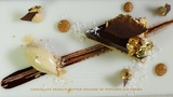 Chocolate Peanut Butter Mousse w Popcorn Ice Cream Bruno Albouze THE REAL DEAL