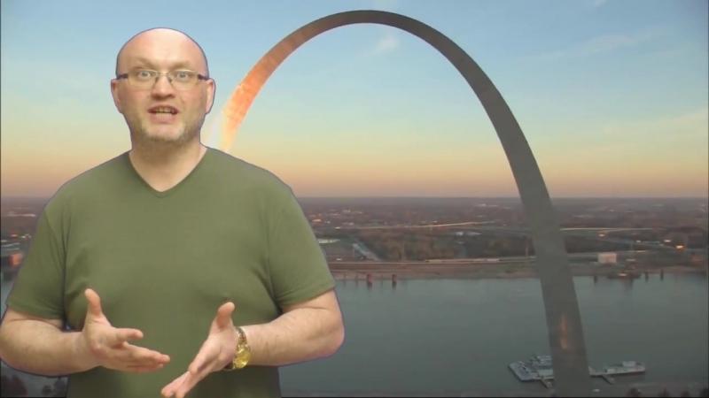 Самый большой памятник в США Gateway Arch Врата на запад г.Сент-Луис в штате Миссури