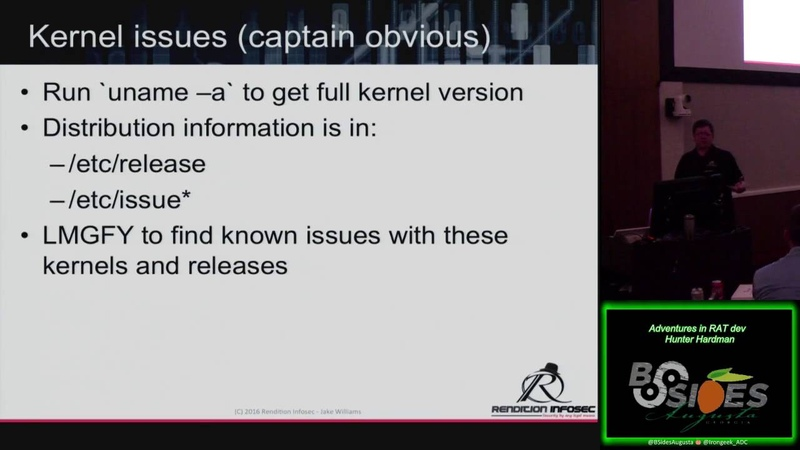 Its Too Funky In Here04 Linux privilege escalation for fun profit and all around mischief Jake Willi