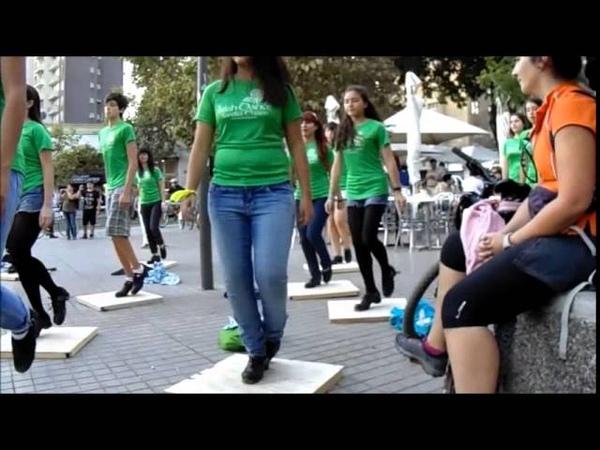 Saint Patricks Day flash mob in Santiago, Chile