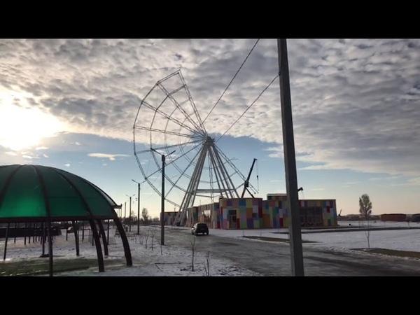 Город на ладони: в парке Волжский идет монтаж нового аттракциона