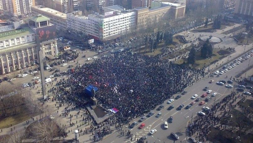 Митинг на площади Ленина
