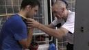 Бокс постановка прямого удара с помощью резины