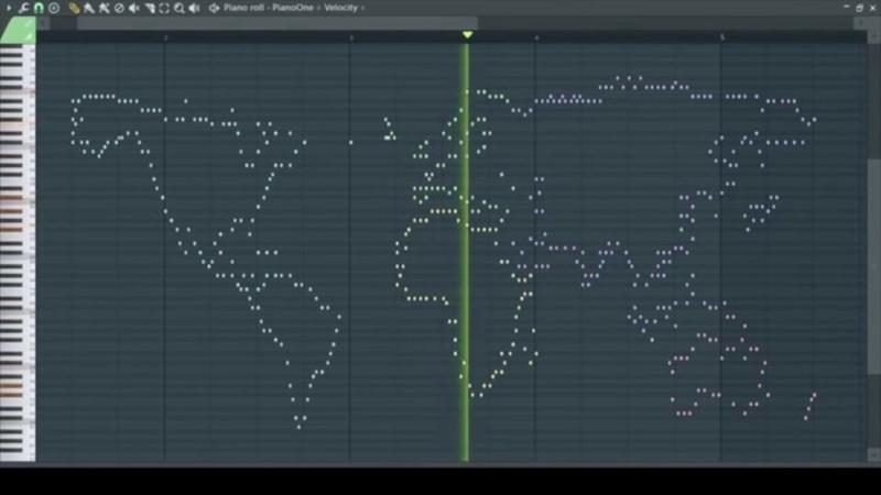 Как звучит карта мира Карта мира переведена в ноты