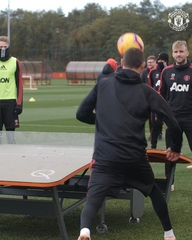 "Manchester United on Instagram: ""A good day's work at a chilly Aon Training Complex - now bring on Everton! #MUFC"""
