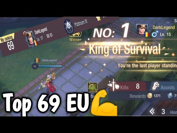 Solo Q No.1 CrossBow King 👑 Of Survival | Survival Heroes - MOBA Battle Royal 👑