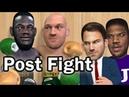 Tyson Fury locker room post fight footage