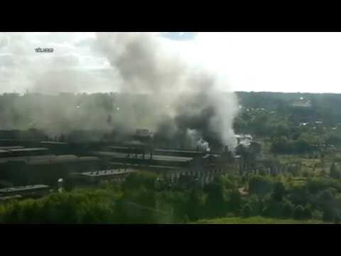 В Алексине на заводе «Тяжпромарматура» полыхал утеплитель