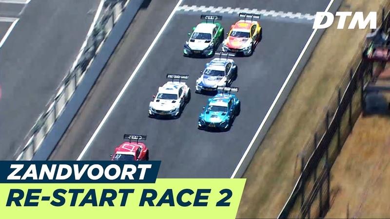 Thrilling Re-Start of Race 2 - DTM Zandvoort 2018