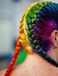 Разноцветные волосы картинки - 7a377