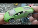 Review toy Cars stained with Sand Video for kids