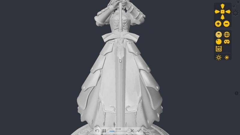 Saber Model 3D