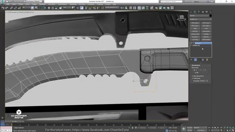 Blade Tutorial Part 1 Modeling UV Unwrapping 3Ds Max 2017