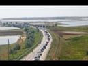 «Большой привет Украине» крымчанин снял очередь на КПП