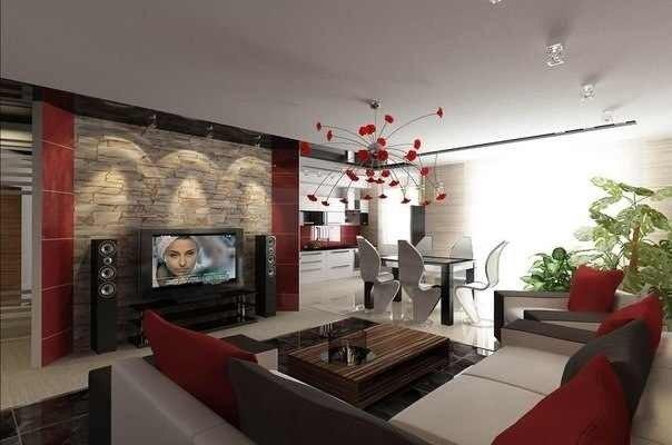 Идеи дизайна кухни гостиной 18