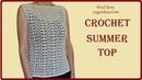 Crochet Easy Summer Top Lace Pattern - Heklana čipkana bluza