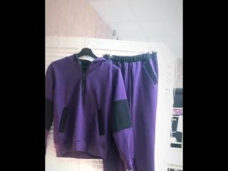 Комплект Баклажан (кофта и брюки)