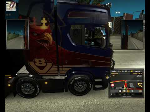 84 Euro Truck Simulator 2 Ольга Дальнобоищик Напроч Бухая выехала!