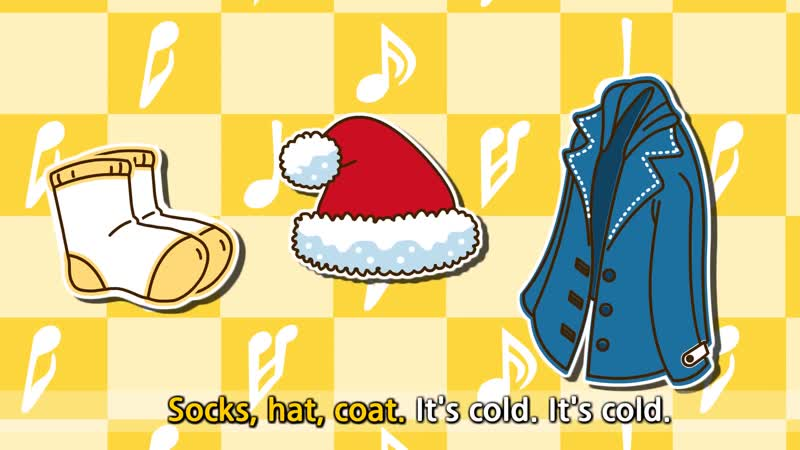 Put on your coat, hat, socks, sweater, gloves, coat. (RequestWeather) - Rap for Kids - English song