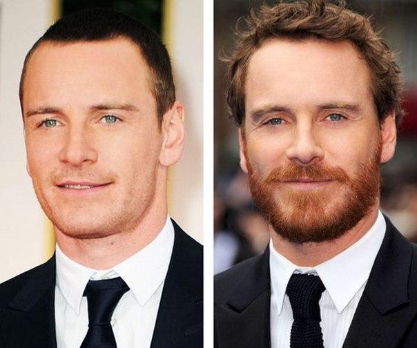 До и после бритья: