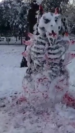 Суровый Темрюкский Снеговик