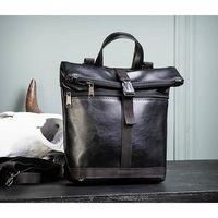88f53834131b BAG462-1 Небольшая мужская сумка - рюкзак из кожи черного цвета