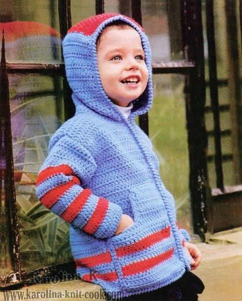 Жакет крючком для мальчика. Возраст: 4 года…. (3 фото) - картинка