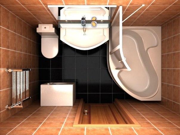 Небольшая ванная комната (1 фото) - картинка