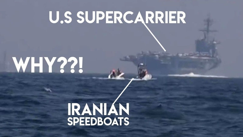 Why Iranian speedboats chase U.S Supercarrier USS Roosevelt?