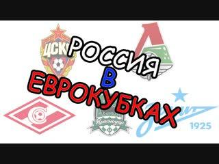 Россия в еврокубках