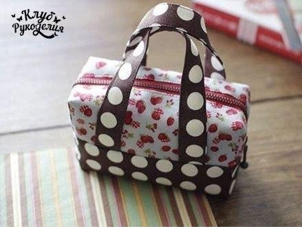 Шьем сумочку-чемоданчик (7 фото) - картинка