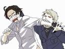 【腐向けAPH】ギルロデでキス gilbertxroderich spitting while kissing meme.avi