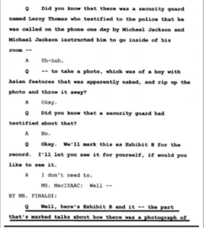 Показания Йоши Уейли, сына Джоли Левин (секретарь MJ)., изображение №19