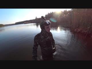 [Vitalik Ignatyuk] Экстремальная Подводная Охота! Филе щуки в чесночном соусе на гриле