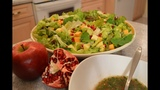 How to Make Green Salad with Pomegranate &amp Apple Made in Niagara with Kimberly