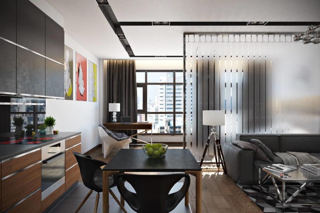 Проект квартиры неизвестного метража.