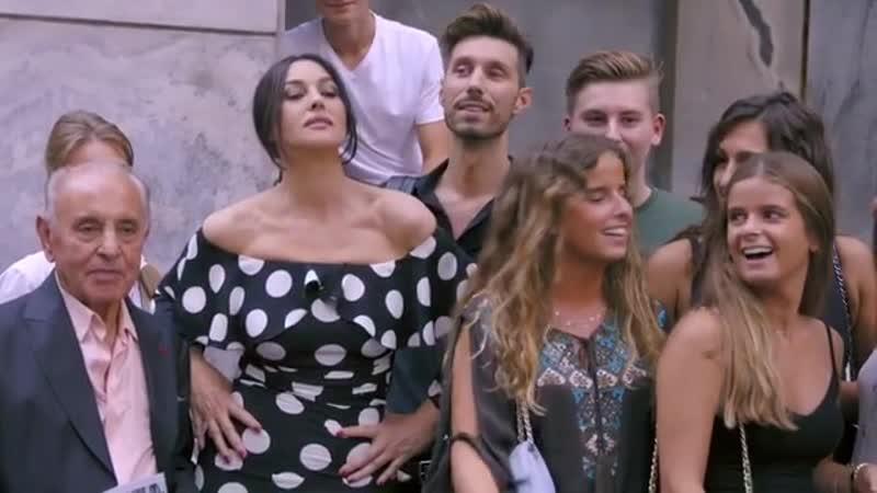 Monica Bellucci Behind the scenes at Alex Majoli's shooting of the DolceGabbana