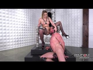 Femdom Empire - mistress Giselle Palmer [locked in chastity belt, куни, мужской пояс верности, контроль оргазма, sex wife]