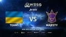 Team1 vs MAJESTY, map 1 Mirage, WESG 2018-2019 Ukraine Finals